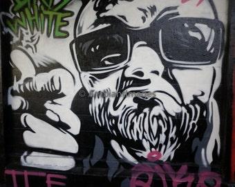 Graffiti 043 - Photographic print - wall art black white - vintage -Home Decor - Los Angeles,California.