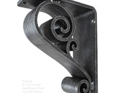 "Classic Scroll Wrought Iron Corbel - 3"" Wide"