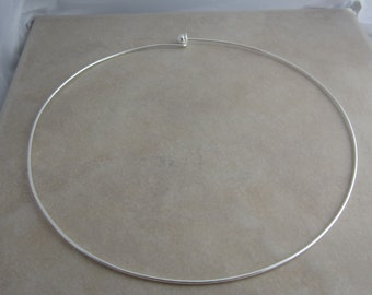 2 silver plated neckwire for beading