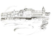 Signed fine art print of 'Music at the Old College of Aberystwyth'- from an original artwork by Sian Bowman