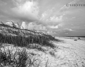 Landscape Photography - Highway 30A, Florida - Seaside View - Black and White