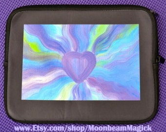 Blossoming Heart case sleeve tablet cover computer ipad kindle Accessory Vibrant Art by Sapphire Moonbeam