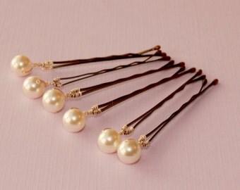 Sale  Bridal hair Pins, Swarovski pearls bridal accessories Wedding hairpiece Rhinestone white ivory navy blue pink peach