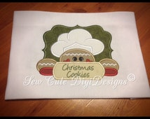 Christmas Cookie Baking Gingerbread Applique Design Package