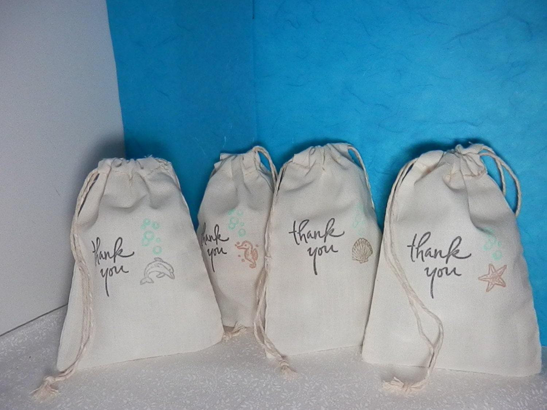 Beach Wedding Gift Bag Ideas: WEDDING FAVORS 4x6 Gift Bags Set Of 10 Beach Themed
