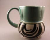 Light Blue Zebra Print Mug reserved for Jenni Massaro--Trade