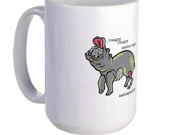 Hungry Zombie Hippo Mug Alt
