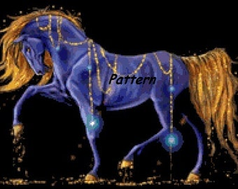 Gold Horse. Cross Stitch Pattern. PDF Files.