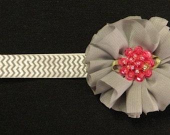 Grey Ballerina Flower Headband