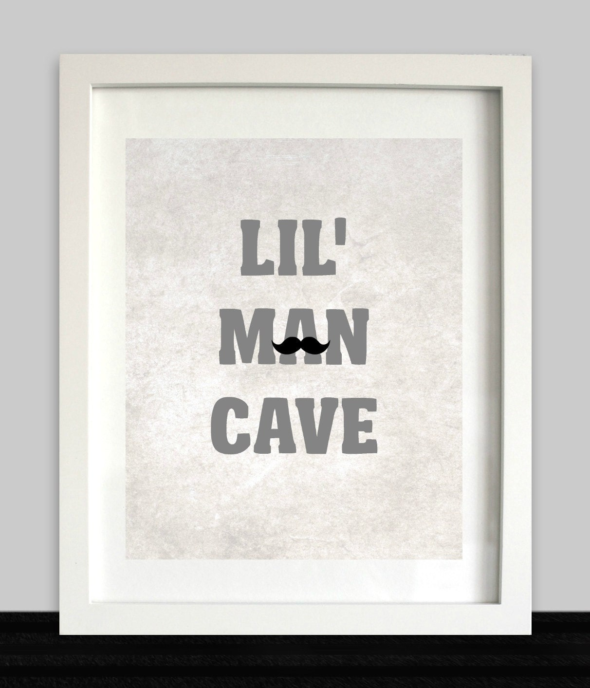 Lil man cave print boys wall art nursery prints baby for Boys wall art