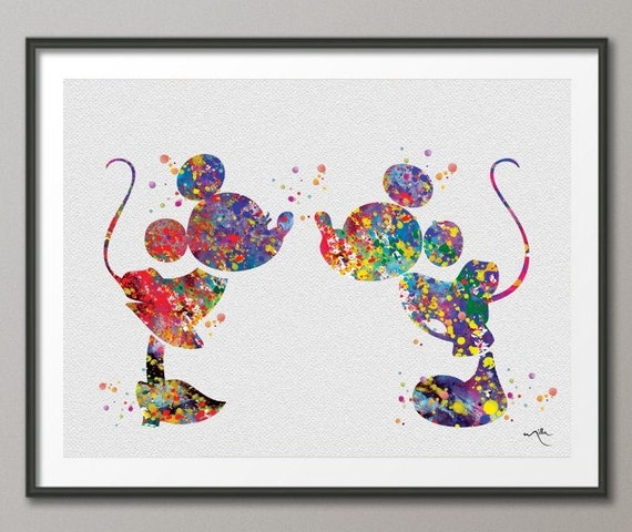 Miki And Mini Mickey And Minnie Inspired Love Kiss By CocoMilla
