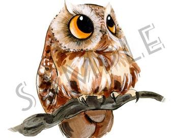 Little Owl Series - Peach print 3 of 3)