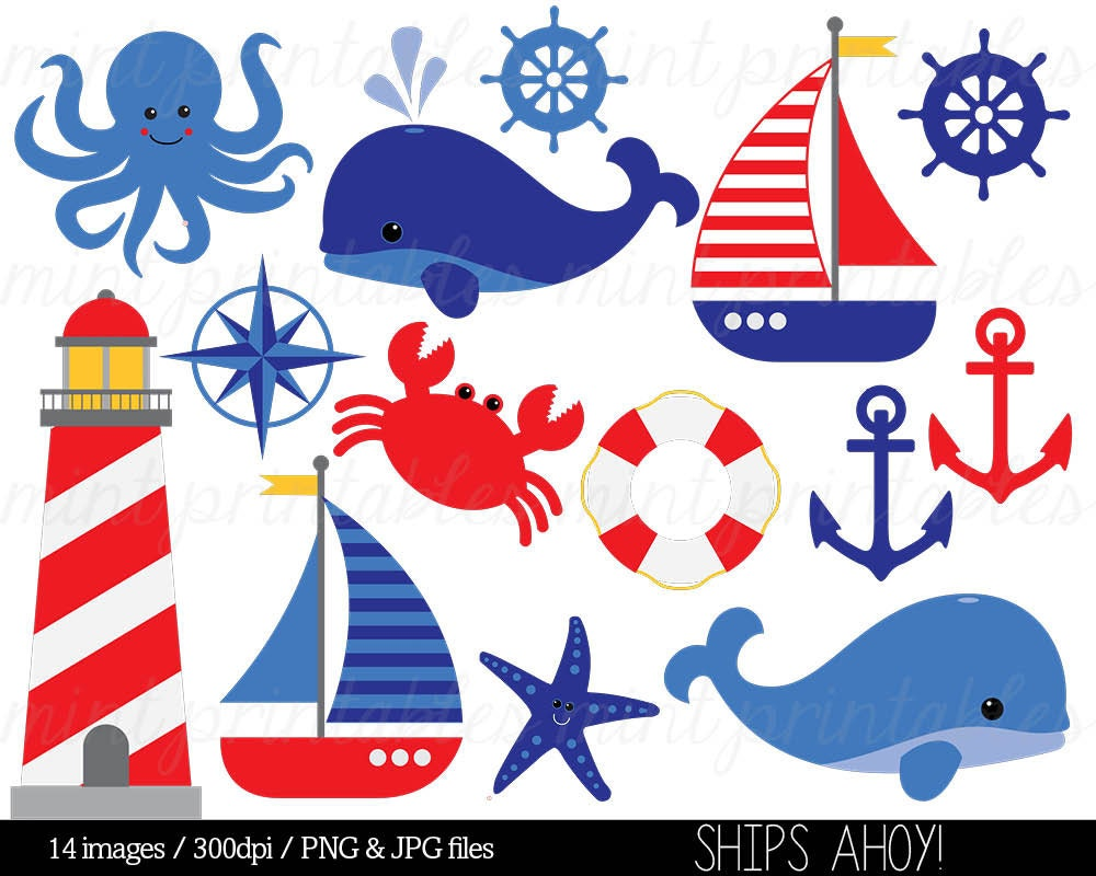 Nautical Boat Themed Clipart on Free Clipart Downloads Clip Art 036