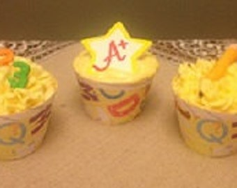 Back to School Cupcake Wrappers