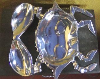 Crab Serving Platter - Pewter Serving Bowl With Crab Design - Housewarming Gift