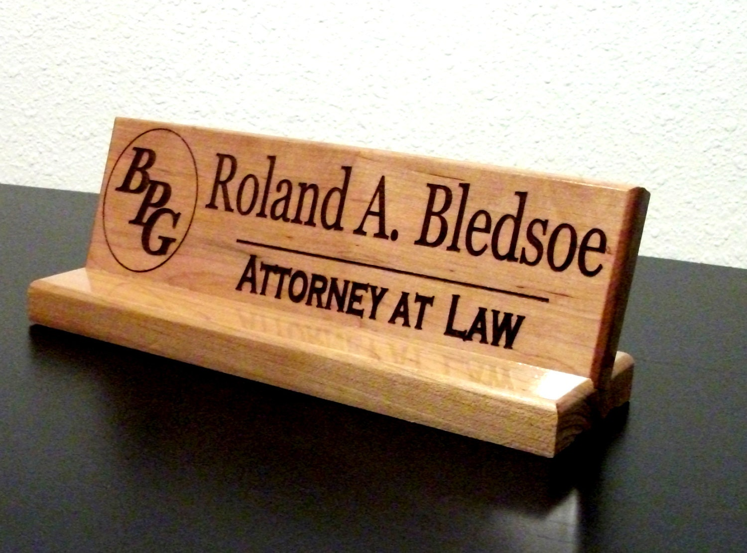 Office Name Plates: Name Plate Personalized Sign Office Desk By ColumbiaRiverSigns