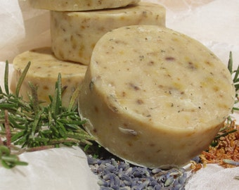 Lemongrass, Rosemary and Lavender-  handmade Goat Milk soap