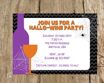 Halloween Party Invitation, Personalized DIY Printable File