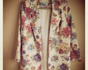 Flora print kind of Oversize Blazer