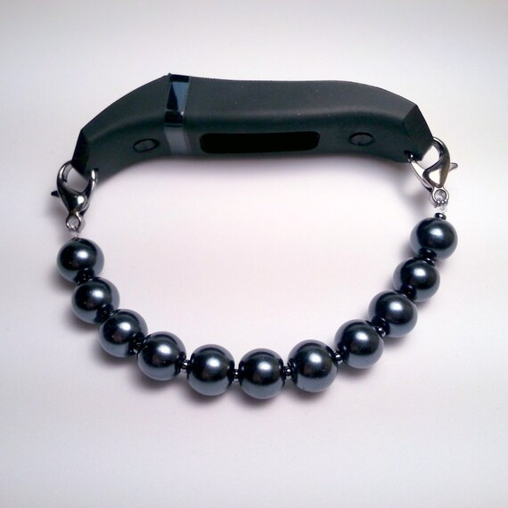 fitbit basic pearl bead bracelet with band bracelet by