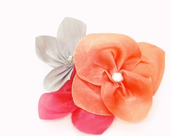 Silk Flower Broach - Bridesmaids, Mother of the Bride Colourful Floral Accessory