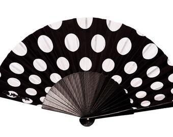 Designer Hand Fan, The Olga - Polka Dot
