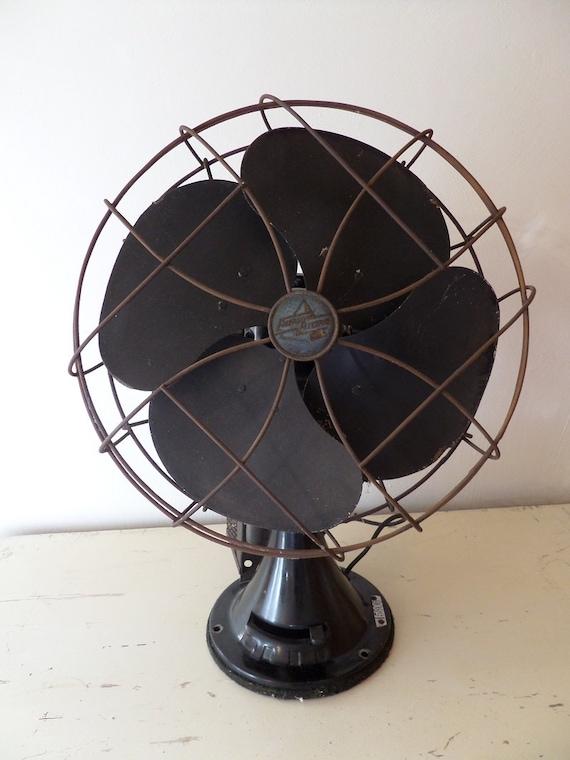 Antique Emerson Fans : Vintage industrial fan emerson electric antique black nice