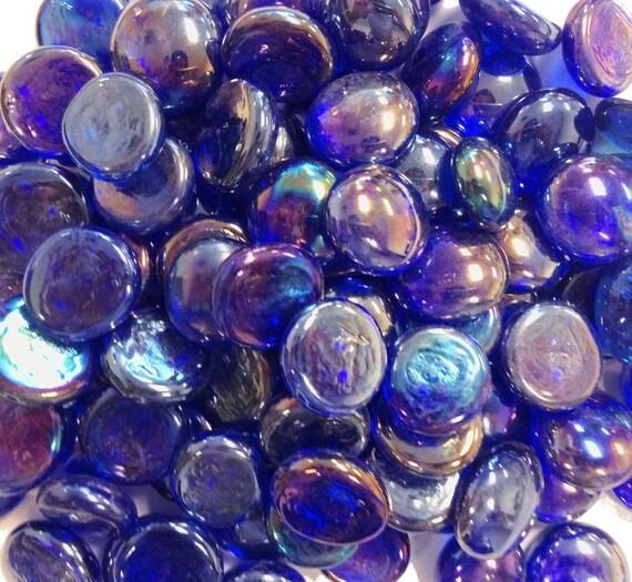 Creative stuff glass cobalt blue iridized gems