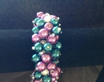 Pearl cluster bracelet