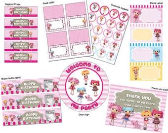INSTANTÁNEA DL - cumpleaños de Lalaloopsy paquete - para imprimir set (no personalizadas)