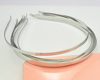 Silver headbands--20pcs Metal Headbands 5mm Silver color with bent end headband.