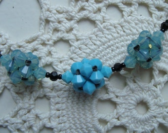 BLACK and BLUE DELIGHT  Necklace