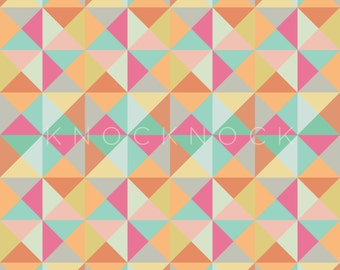 Geometric Modern Bobbins Digital Paper - Scrapbooking