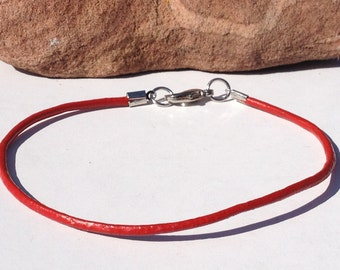 FREE SHIPPING-Mens Bracelet,Mens Leather Bracelet,Stainles Steel Leather Bracelet,Red Leather Bracelet,Mens Red Bracelet,Bracelets For Men