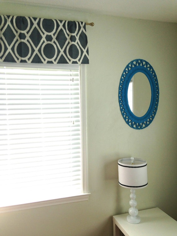 Window valances to tie the whole room together at Bright & Bold Designs