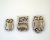 Three Owl Magnets