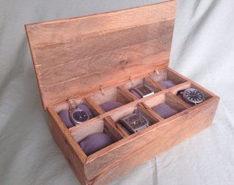 wooden watch box au customizable watch box handmade cushions rustic reclaimed wood engraved father s day 5th anniversary gift for him display case