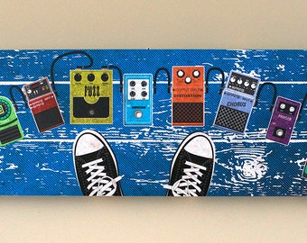 Guitar Effect Pedal Art on Canvas
