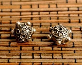 Vintage Sterling Bali Beads