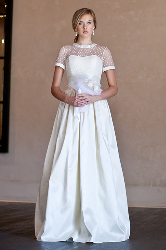 Kendra dotted swiss wedding gown for Dotted swiss wedding dress