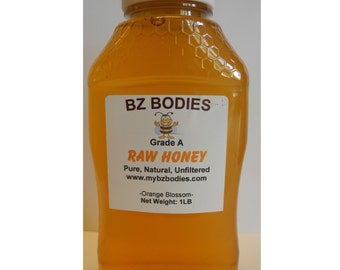 Orange Blossoms Finest Raw Honey-Pure, Natural, Unfiltered, Grade A