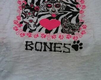 animal Bones burnout tshirt