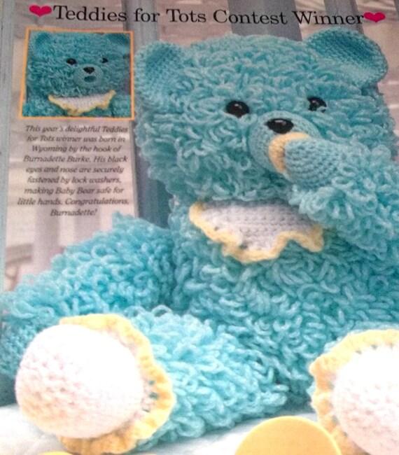 Crochet Pattern Loopy Teddy Bear With by sewprettypatterns