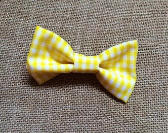 Baby Boy Bow Tie, Bow Tie, Yellow Gingham, Kids Bow Tie