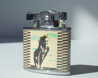 Lighter / Vintage Rocabilly Accessory / Girly Lighter / Never-Used Relic from the 1950's