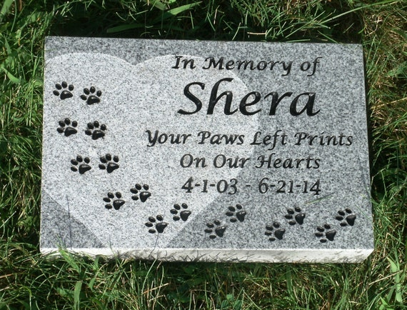 Personalized Granite Pet Memorial Stone Grave Marker Garden