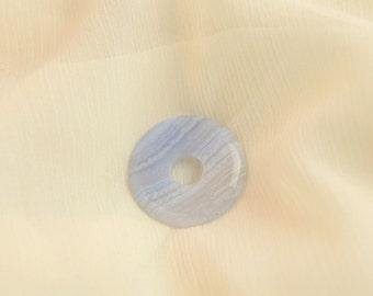 Donut - Chalcedon-gemstone jewelry light blue grey