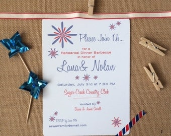 Custom Patriotic Party Printable Invitation