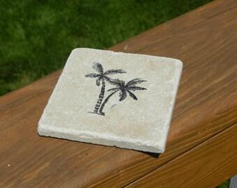 Palm Tree Tile Coasters