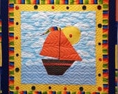 Bailey's Boat Applique PDF Quilt Pattern, Betty Alderman Designs PDF, Boat Quilt Pattern, Boats, Cottage, Boy Quilts